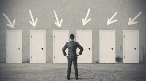 bigstock-Businessman-Choosing-The-Right-47036827
